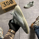 Мужские кроссовки Adidas Yeezy Boost 350 V2 Cloud White, Мужские кроссовки Адидас Изи Буст В2 белые, фото 3