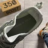 Мужские кроссовки Adidas Yeezy Boost 350 V2 Cloud White, Мужские кроссовки Адидас Изи Буст В2 белые, фото 5