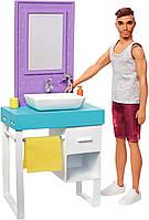 Игровой набор Barbie Комната Кена Ванная комната с куклой Ken SKL52-241164