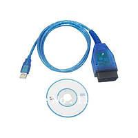 Автомобильный  диагностический VAGCOM USB универсальный сканер OBD-II с программным обеспечением