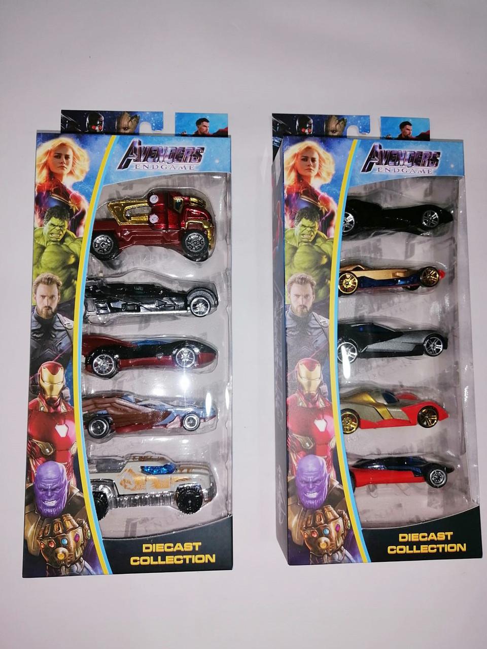 Набор машинок Avengers 5 шт.