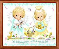 """Схема для вышивки на атласе ангелочки """"Изобилие"""""""