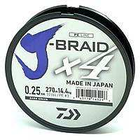 Шнур Daiwa J-Braid X4E 0,10mm-270m Dark Green