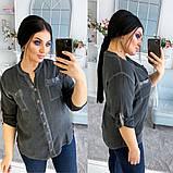 Женская блузка коттон короткий рукав батал размеры:46-48,50-52,54-56, фото 3