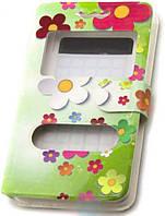 Универсальный Чехол книжка (2 окна) print 3.8-4.3 chamomile Зеленый