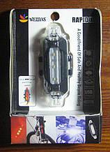 Стоп велосипедний білий з USB зарядкою
