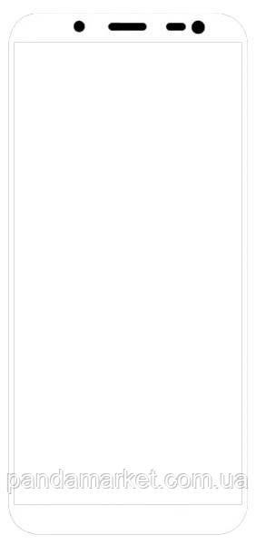 Защитное стекло 2.5D для Samsung J6 (2018) J600 Белый