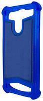 Универсальный Чехол накладка силикон-кожа 3.5-4.0'' Синий