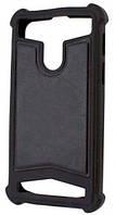 Универсальный Чехол накладка силикон-кожа 3.5-4.0'' Черный