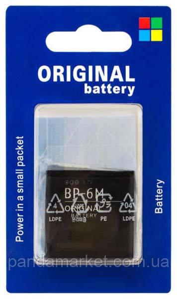 Аккумулятор для Nokia BP-6M 1100mAh 3250, 6151, 6233 блистер
