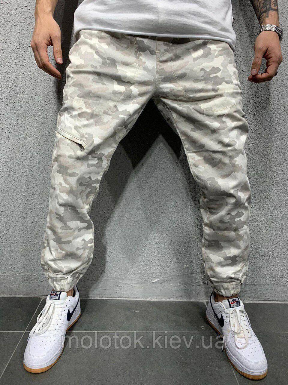Мужские штаны демисезонные камуфляжные светлые