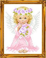 "Схема для вышивки на атласе ангелочки ""Малышка"""