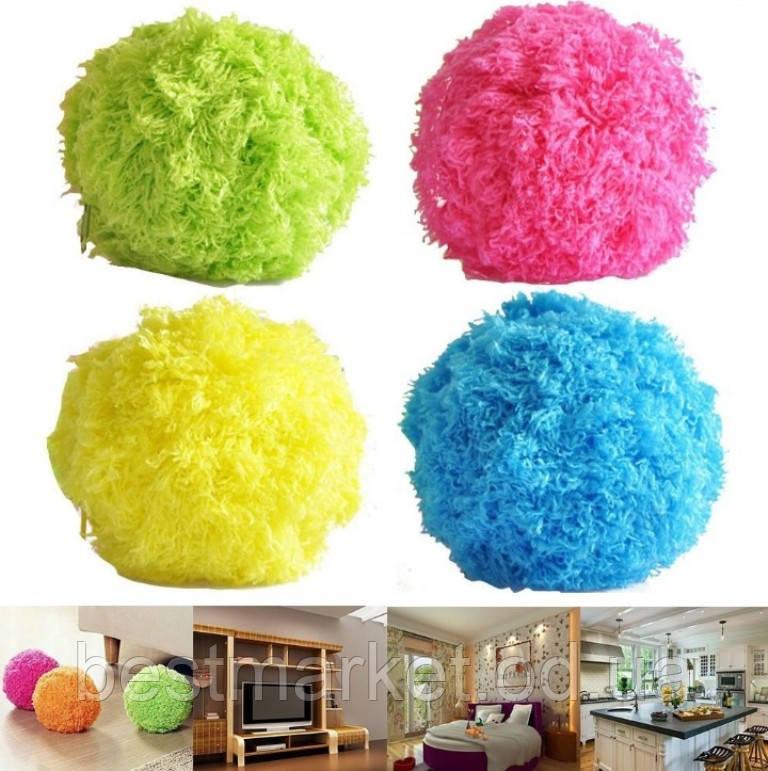 Мячик Попрыгун для Уборки Пыли Microfiber Mop Ball Mocoro
