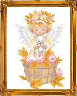 """Схема для вышивки на атласе ангелочки """"Щедрый урожай"""""""