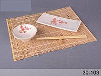 Набор для суши Сакура белый ,5пр