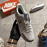 Кроссовки белые низкие Nike Air Force Найк Аир Форс Кожа Рефлектив 🔥 Найк мужские кроссовки 🔥, фото 3