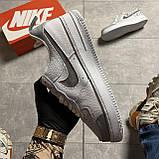 Мужские кроссовки Nike Air Air Force '07 LV8, Мужские Найк Аир Форс Кожаные Белые мужские кроссовки, фото 5