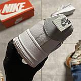 Кроссовки белые низкие Nike Air Force Найк Аир Форс Кожа Рефлектив 🔥 Найк мужские кроссовки 🔥, фото 4
