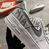 Кроссовки белые низкие Nike Air Force Найк Аир Форс Кожа Рефлектив 🔥 Найк мужские кроссовки 🔥, фото 6