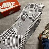 Кроссовки белые низкие Nike Air Force Найк Аир Форс Кожа Рефлектив 🔥 Найк мужские кроссовки 🔥, фото 7
