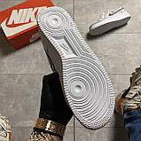 Кроссовки белые низкие Nike Air Force Найк Аир Форс Кожа Рефлектив 🔥 Найк мужские кроссовки 🔥, фото 8