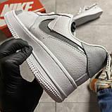 Кроссовки белые низкие Nike Air Force Найк Аир Форс Кожа Рефлектив 🔥 Найк мужские кроссовки 🔥, фото 9