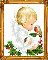 "Схема для вышивки на атласе ангелочки ""Весточка"""