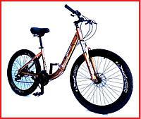 """Складной велосипед Unicorn - Gloria 26"""" размер рамы 16"""" gold"""