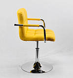 Кресло мастера Arno Arm С Base, желтое, фото 2