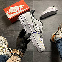 Мужские кроссовки Nike Air Force 1 Low, Мужские Найк Аир Форс Кожаные белые мужские кроссовки