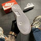 Кроссовки белые низкие Nike Air Force Найк Аир Форс Кожа Офф вайт 🔥 Найк мужские кроссовки 🔥, фото 6