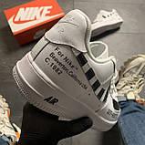 Кроссовки белые низкие Nike Air Force Найк Аир Форс Кожа Офф вайт 🔥 Найк мужские кроссовки 🔥, фото 3
