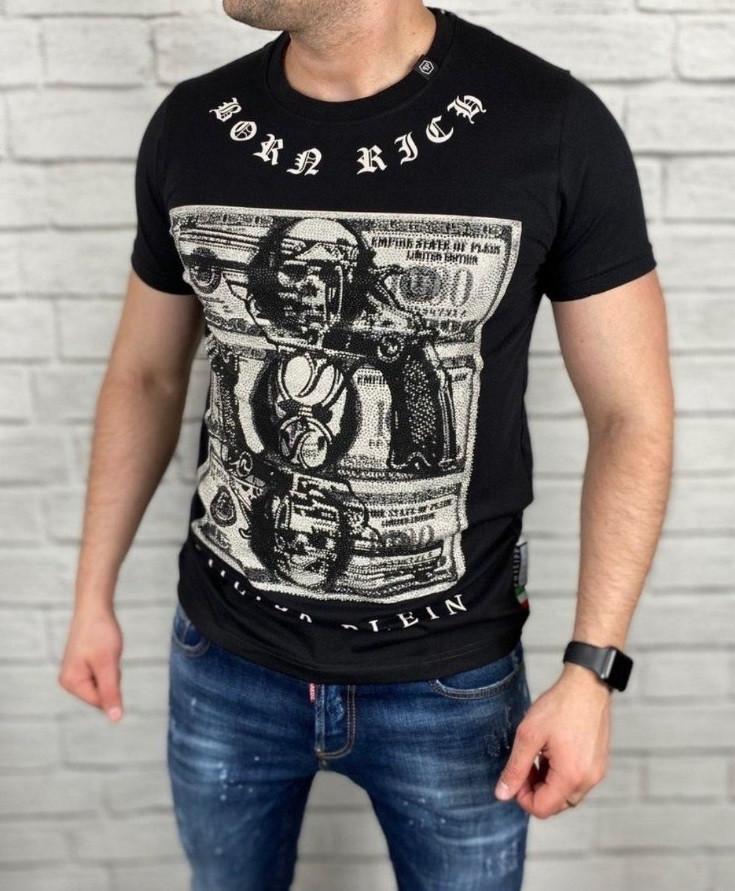 Брендовая  стильная мужская футболка Philipp Plein 2020! Размеры: S, M, L, XL, 2XL.