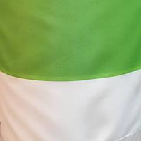 Палаточная ткань оксфорд 210D -110 г/м² белый с зеленый ( салатовый)