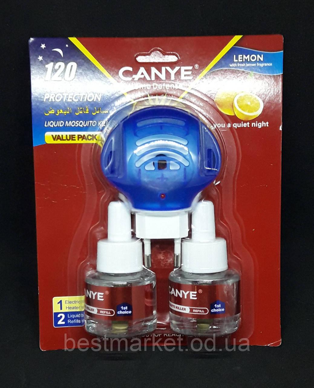 Електрофумігатори від Комарів CANYE 120 Nights Protection з Рідиною 2х45мл