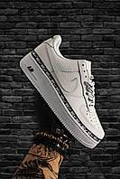 Мужские кроссовки Nike Air Force 1 Low, Мужские Найк Аир Форс Лоу Кожаные белые мужские кроссовки