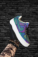 Рефлективные Кроссовки Черные низкие Nike Air Force Найк Аир Форс Кожа 🔥 Найк мужские кроссовки 🔥