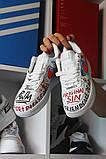 Кроссовки белые низкие Nike Air Force Pauly x Vlone Pop Найк Аир Форс Кожа В Лон 🔥 Найк мужские кроссовки 🔥, фото 2