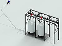 Система запитки пеллетных горелок с биг-бега на 2 места.