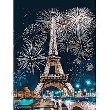 """Картина по номерам Букеты """"Огни Парижа"""", 30х40 см, 4*"""