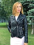 Черная куртка из натуральной кожи Джамбо, фото 8