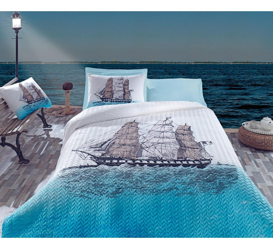 Постельное белье со стеганым пододеяльником Cotton Box Maritime Ship полуторный