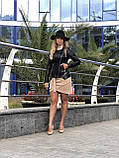 Черная куртка из натуральной кожи Fabio Monti, фото 8