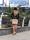 Черная куртка из натуральной кожи Fabio Monti, фото 9