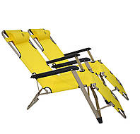 Комплект шезлонгов Bonro 180 см желтый (2шт), фото 1