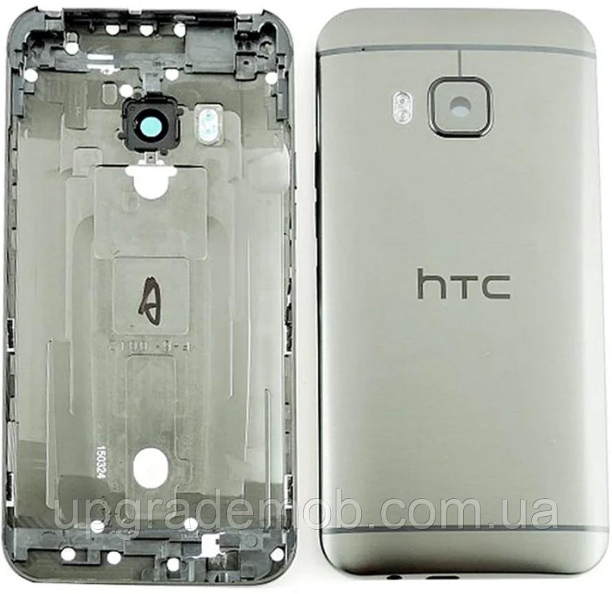 Задня кришка HTC One M9, сіра, Gunmetal Gray, оригінал