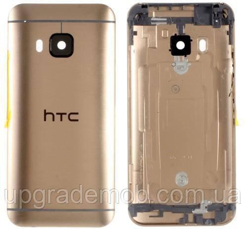 Задня кришка HTC One M9, срібляста, Silver-Gold, оригінал