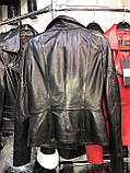 Красная удлиненная куртка из натуральной кожи Fabio Monti, фото 6
