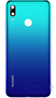 Задняя крышка Huawei P Smart Plus 2019 (POT-LX3/POT-L23/POT-LX1), голубая, Starlight Blue, оригинал