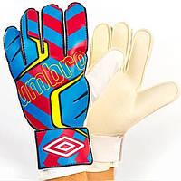 Перчатки вратарские Umbro красно-синие FB-840-1 (реплика)